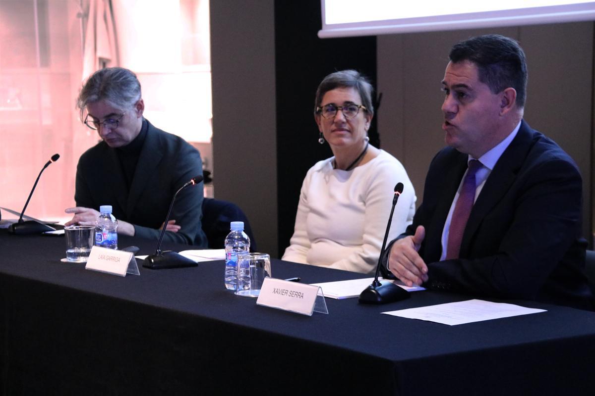 Xavier Serra durante su intervención