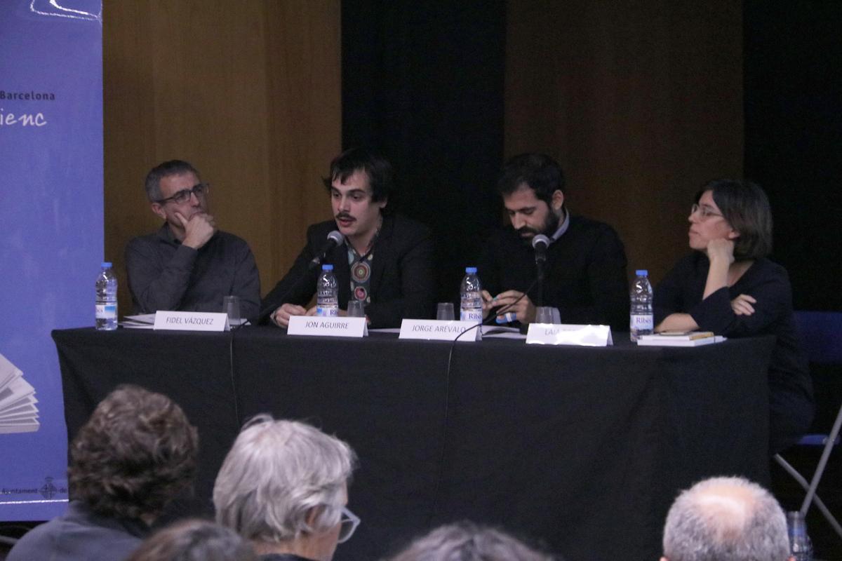 Los ponentes durante el último Rincón de #Repensar del año