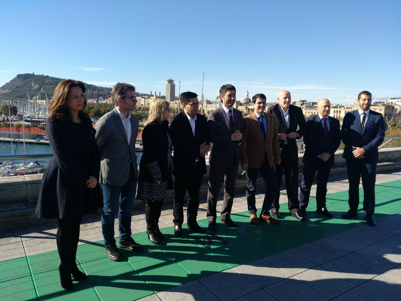 Foto de família del tret de sortida a la Mobile Week Barcelona