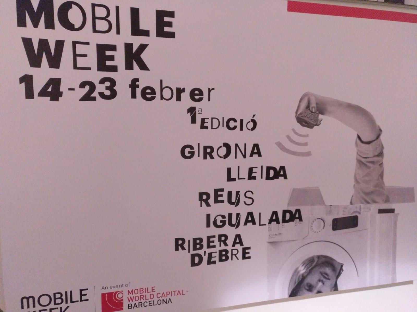 Cartell de la Mobile Week Barcelona