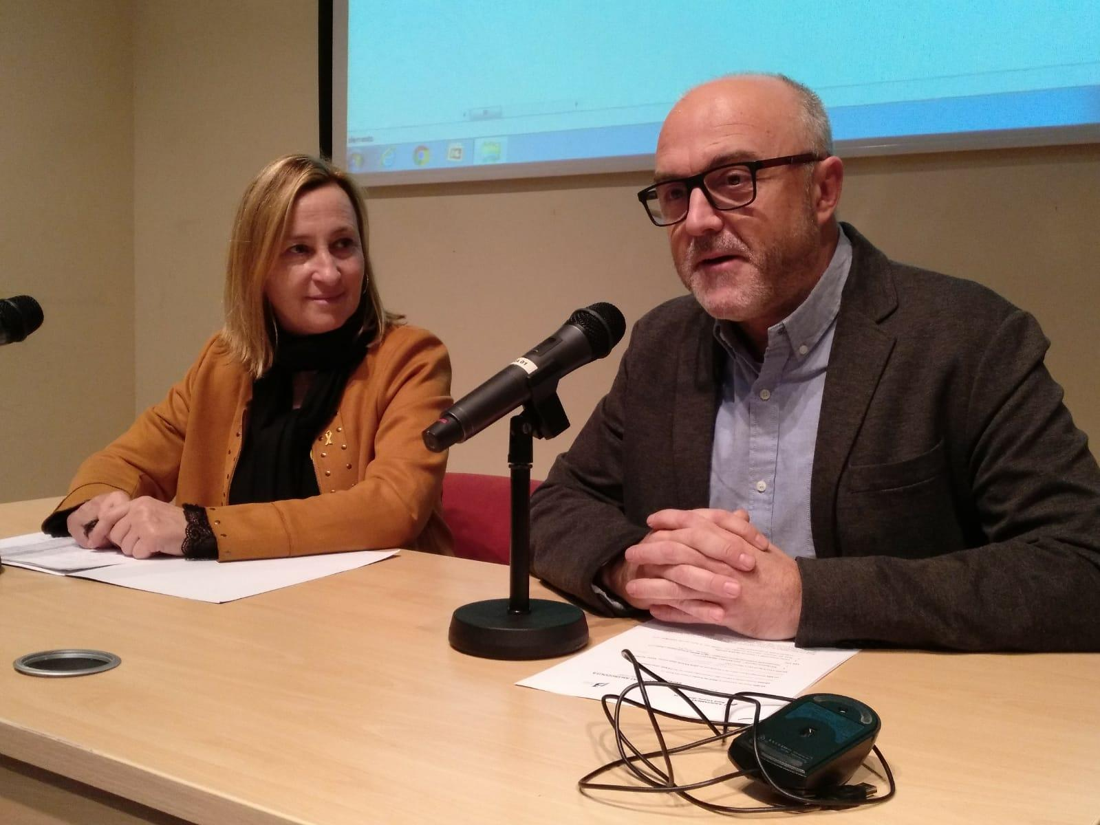 Maite Aymeric i Oriol Estela, coordinador general del PEMB