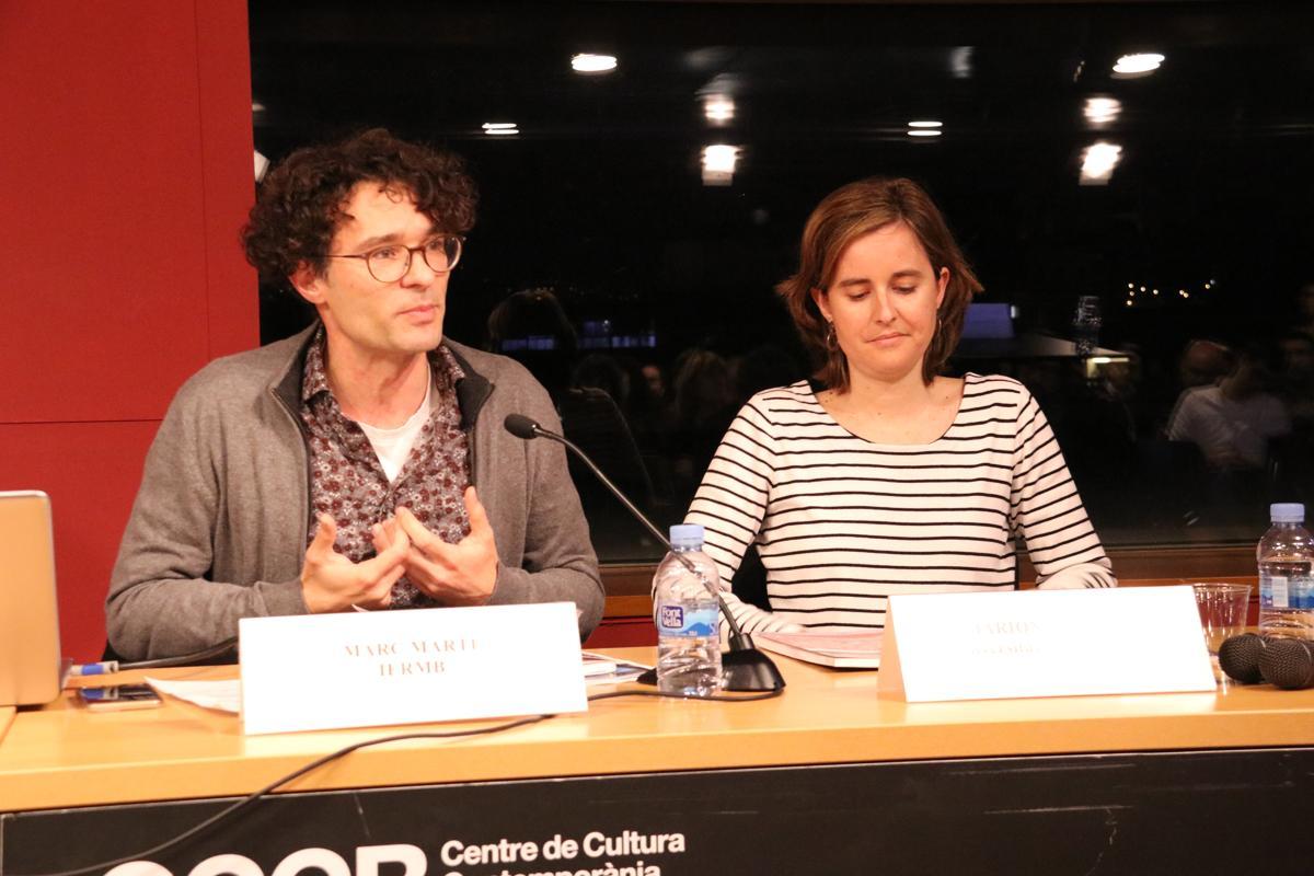 Marc Martí, cap de l?àrea de Governança de l?IERMB i Mariona Tomàs, professora de Ciència Política, Universitat de Barcelona