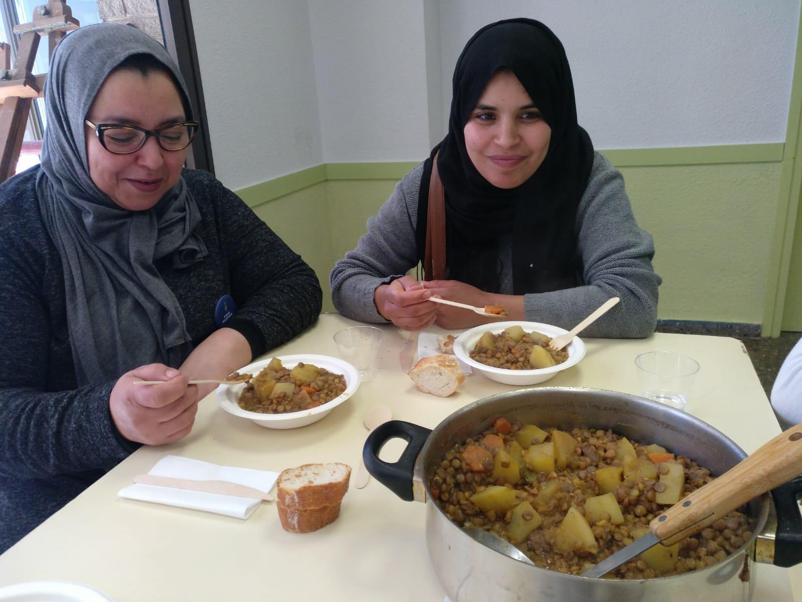 Almuerzo comunitario del Food Mapping en Sant Idelfons, Cornellà de Llobregat