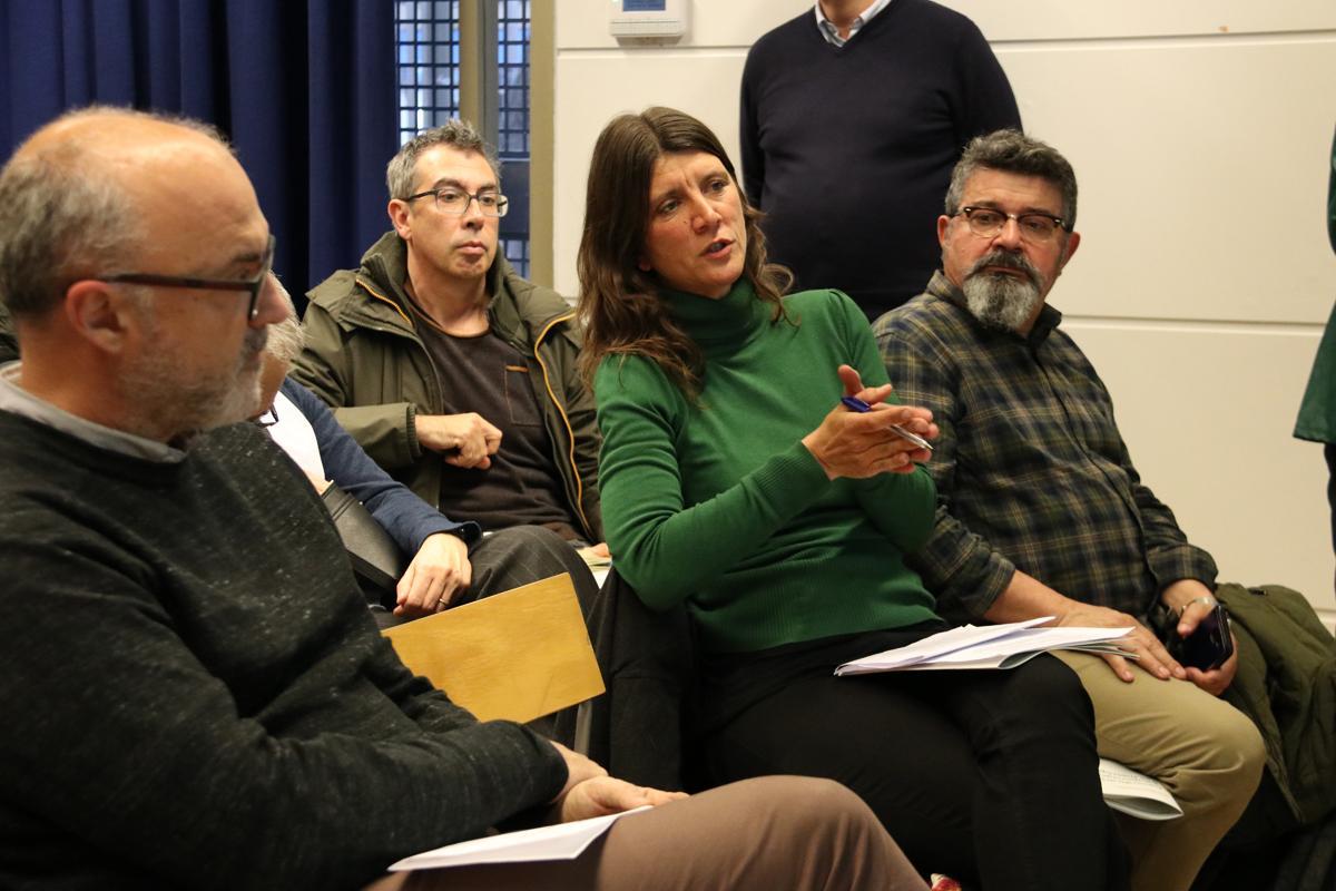 Adriana Ciocoletto, doctora en arquitectura i urbanista, sòcia fundadora de Col·lectiu Punt 6, durant el debat