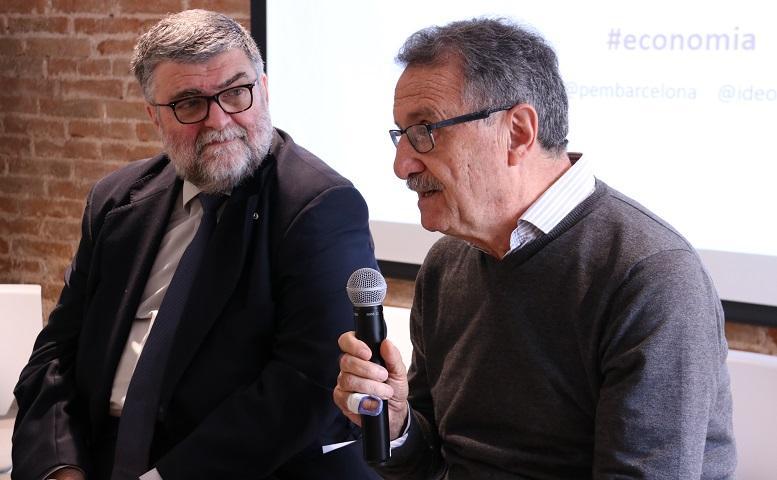 Miquel Barceló i Jordi Berenguer, els dos experts en economia convidats al debat