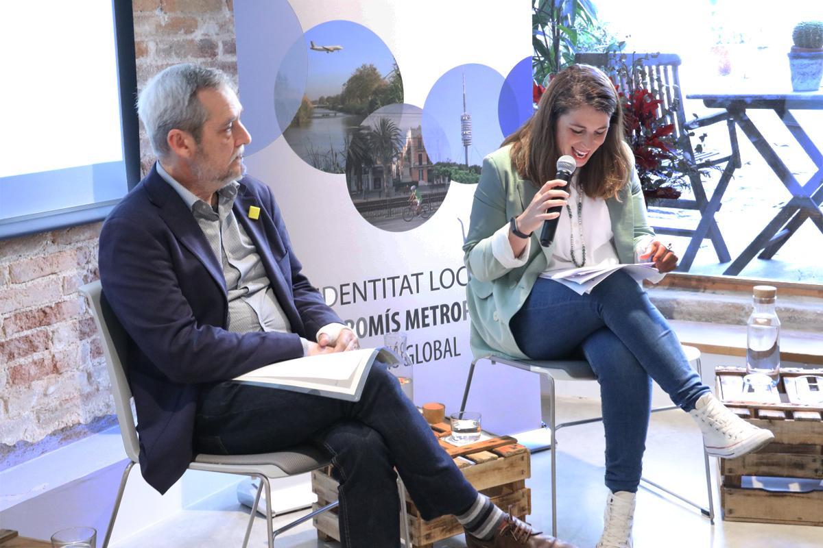 Candela López, d?Entesa-Comuns i Jordi Coronas, d?ERC