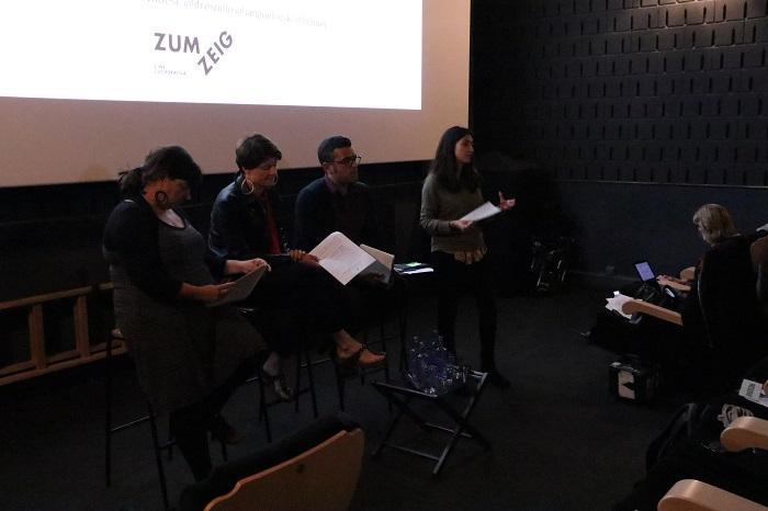Irene Escorihuela, directora del Observatorio DESC y moderadora del cine-foro '¿Cómo afrontamos la gentrificación?'