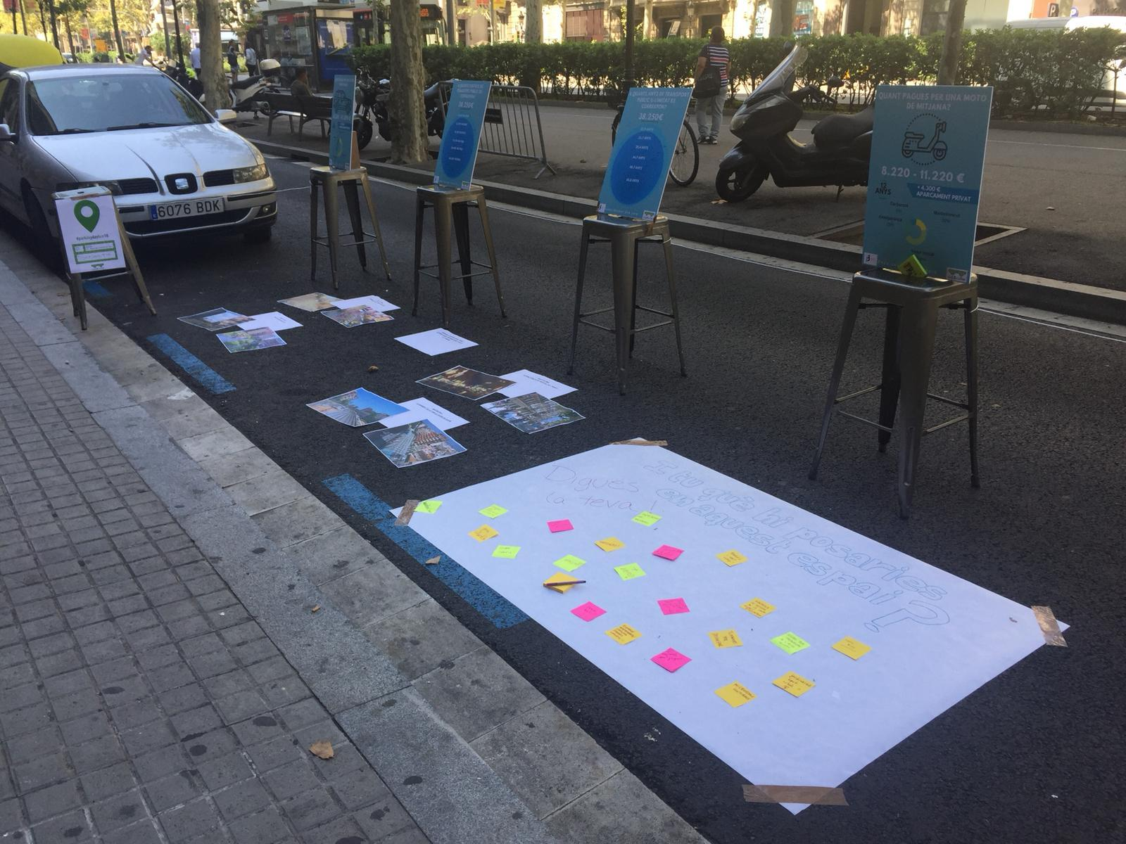 Imagen de las plazas de aparcamiento ocupadas por el PEMB el 2018