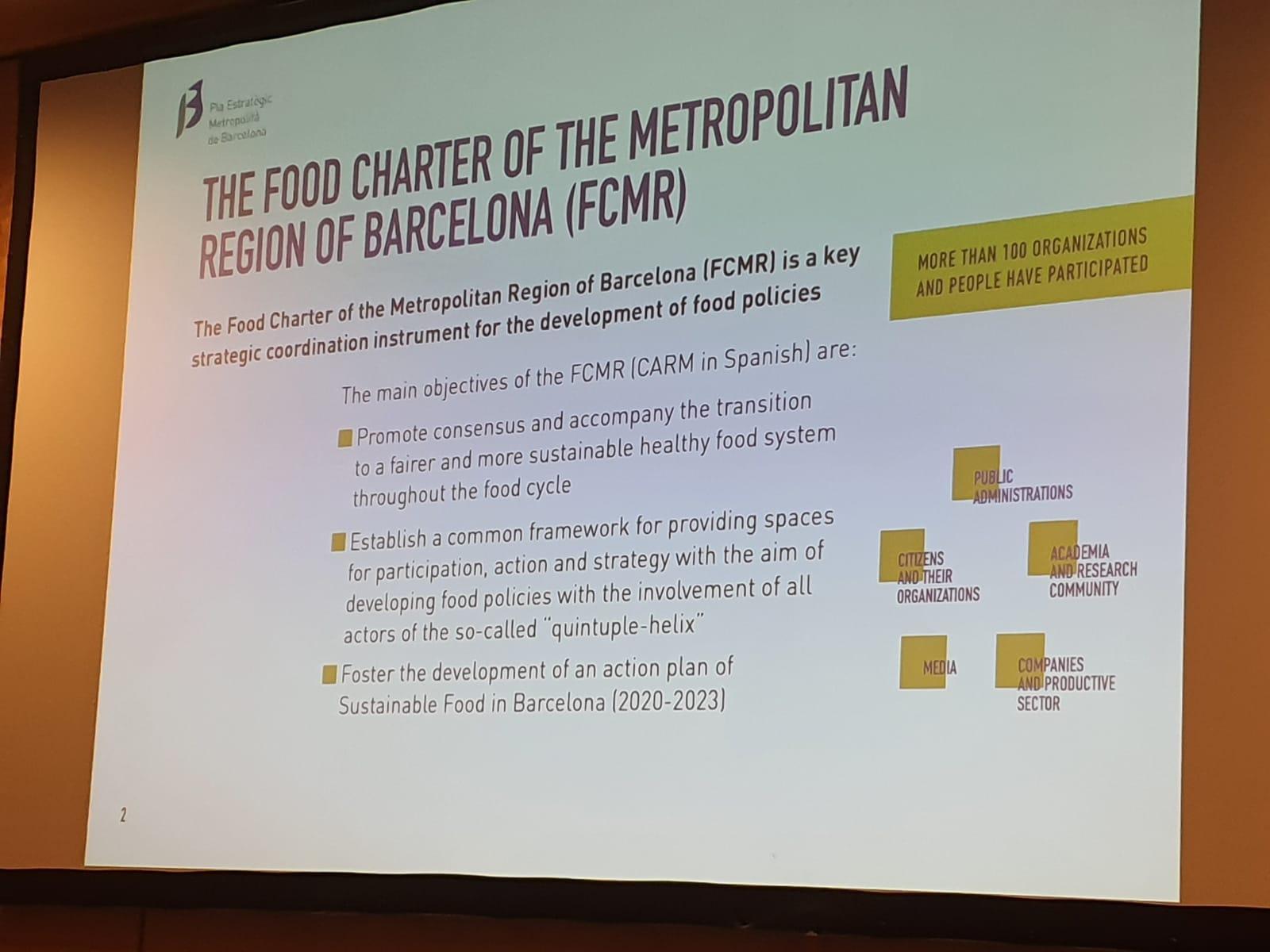 Projecció de la presentació de la CARM a Montpeller