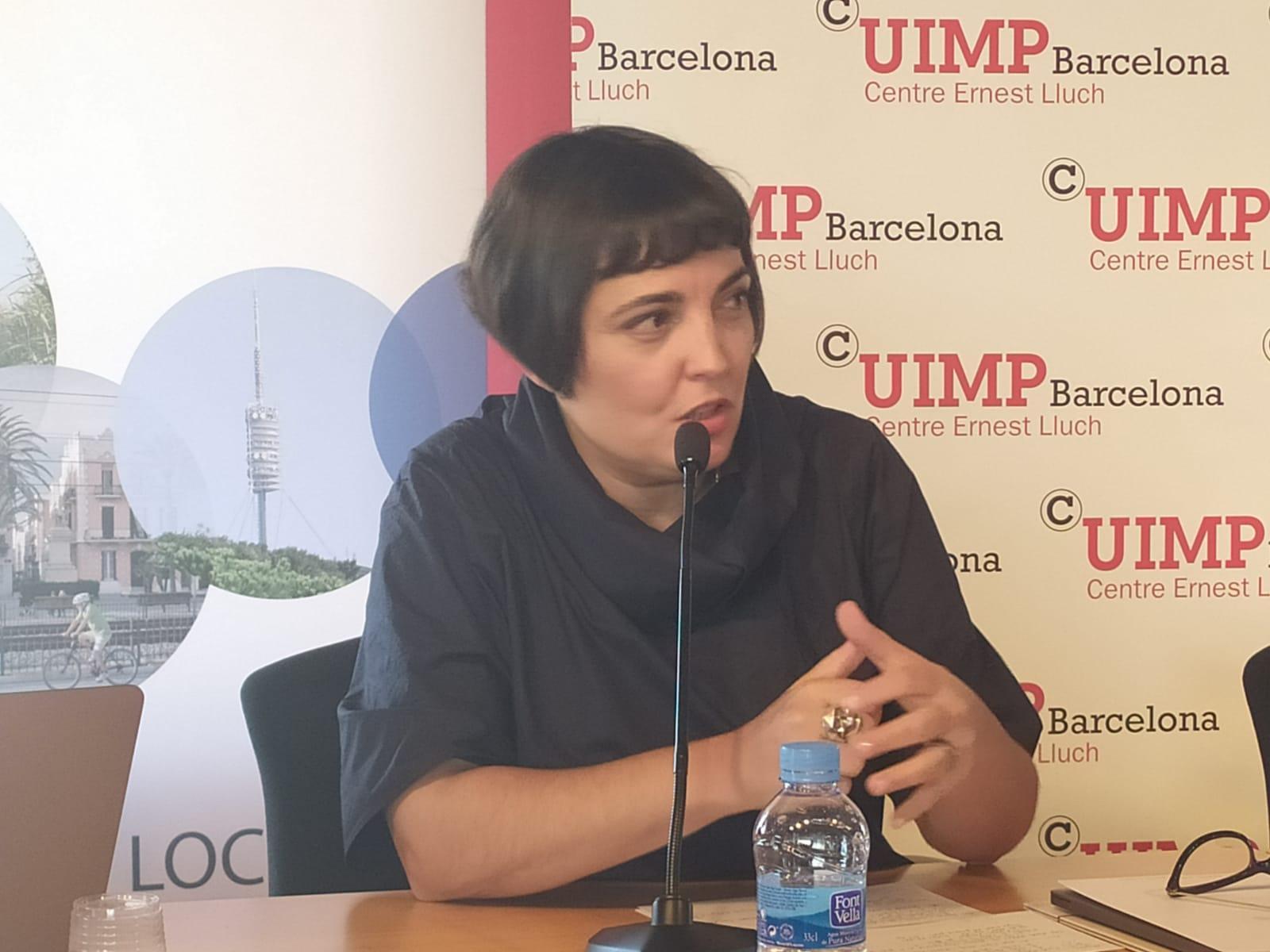 Una de les participants de la taula rodona Ana Alcantud, directora de la consultoria Anteverti