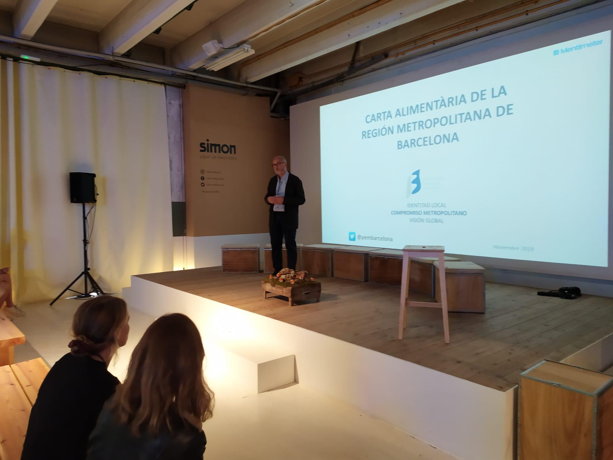Oriol Estela Barnet presenta la Carta Alimentària de la Regió Metropolitana de Barcelona al FOODTURE BCN