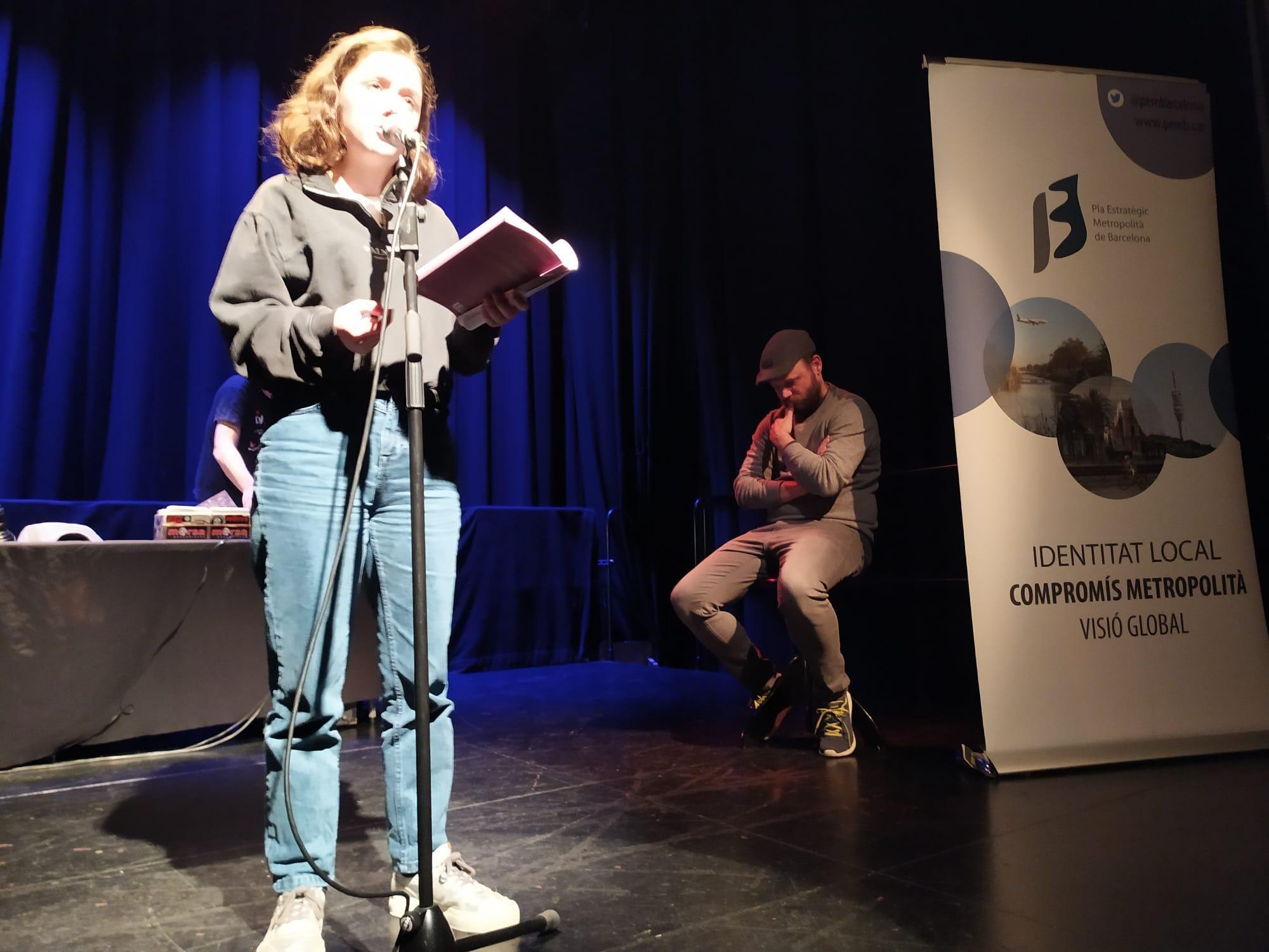 La finalista Ainara García, de Saragossa, al teatre Cal Ninyo