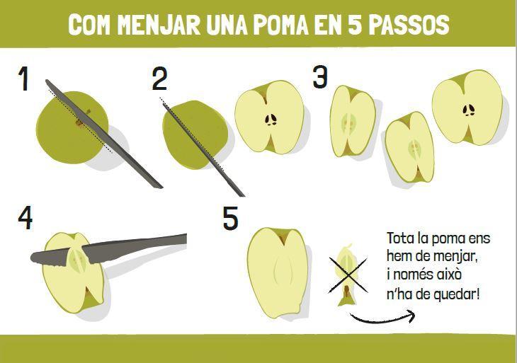 Cada menjador escolar malbarata de mitjana 20,5 kg diàriament, la meitat és fruita