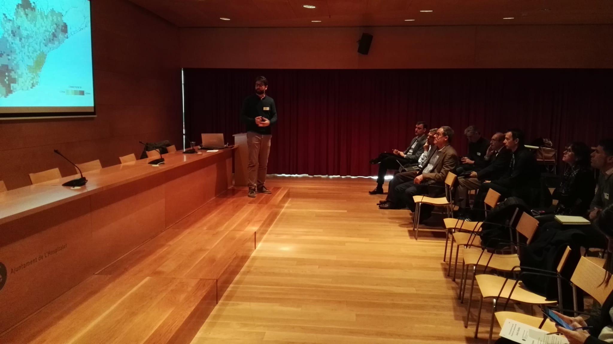 Javier Ortigosa durant la seva intervenció a la 5a sessió del procés participatiu sobre l'Avanç del PDU Metropolità