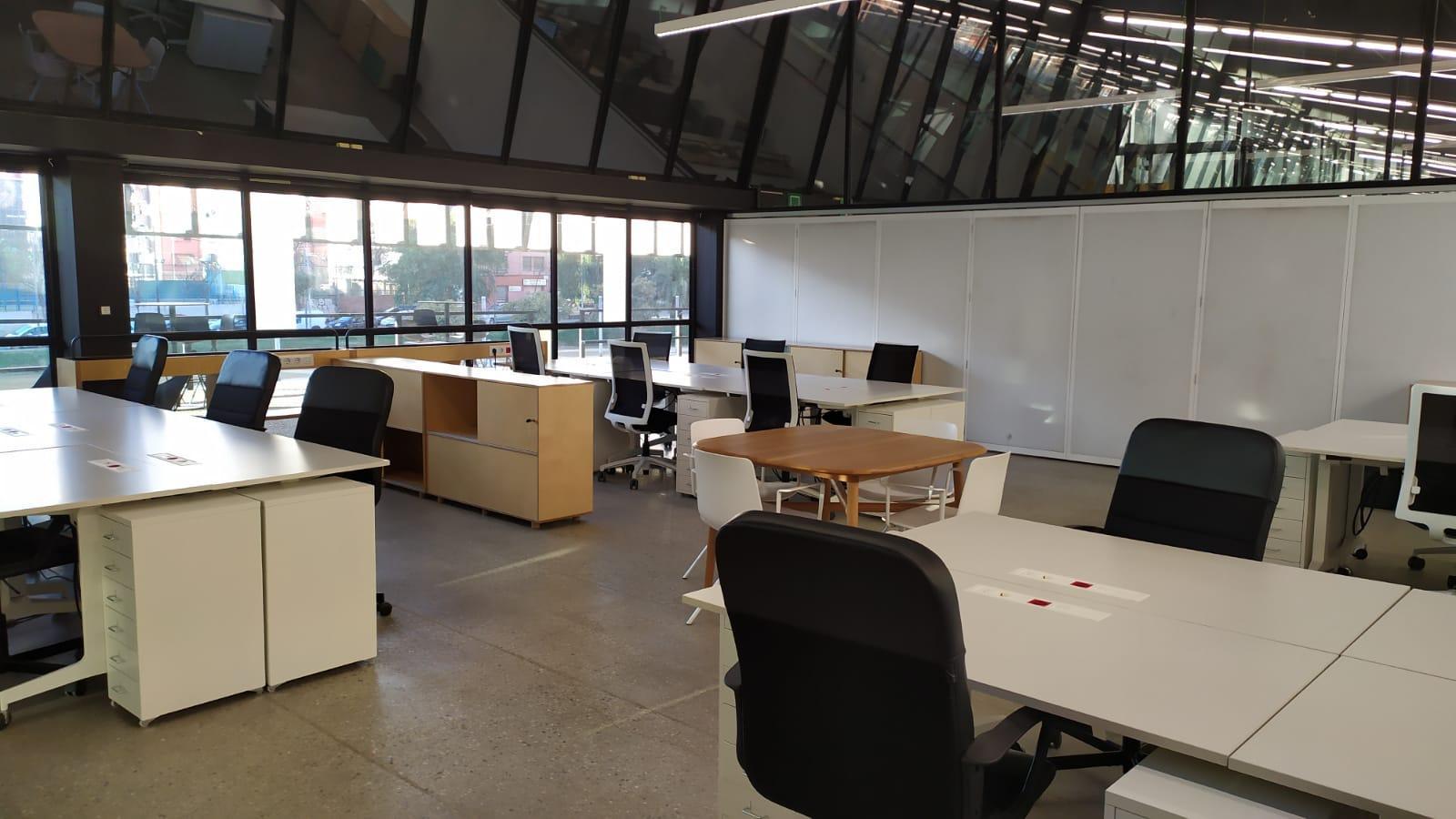 Imatge d'un dels espais de treball de l'Canòdrom