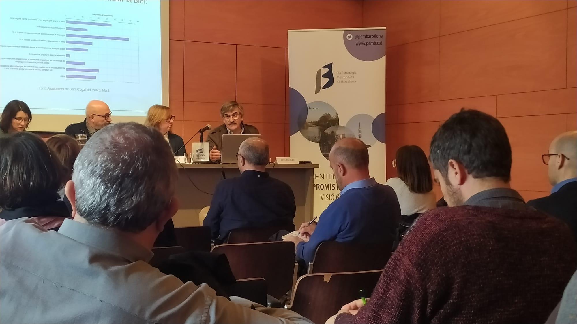 Pere Aguilar, de l'Ajuntament de Sant Cugat, presenta el Pla Desplaçament d'Empresa