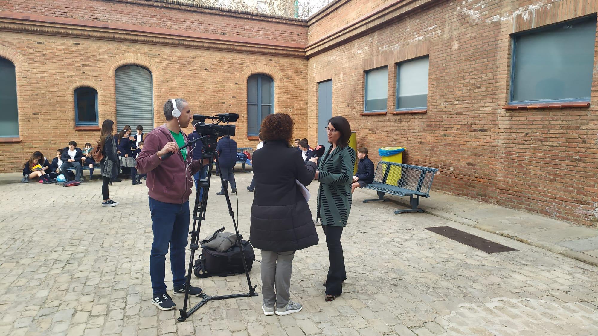 Nel·la Saborit, tècnica del PEMB, és entrevistada per l'informatiu de Canal Terrassa