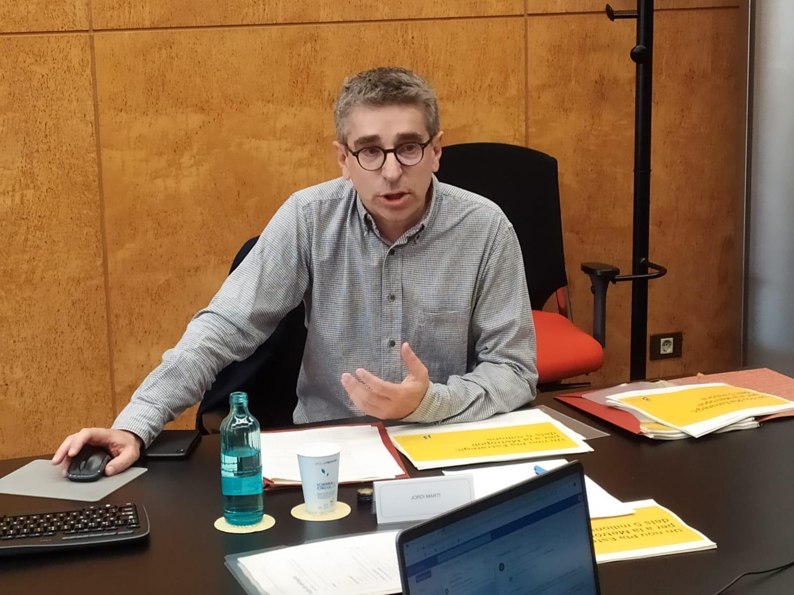 Jordi Martí durant la reunió del Consell Rector del PEMB