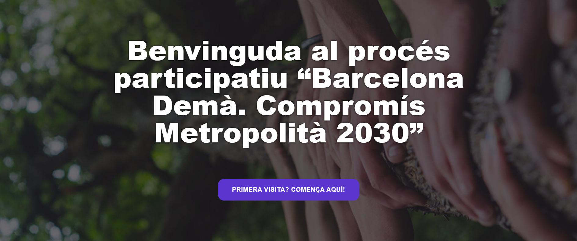 Ya se puede participar en el proceso 'Barcelona Demà'