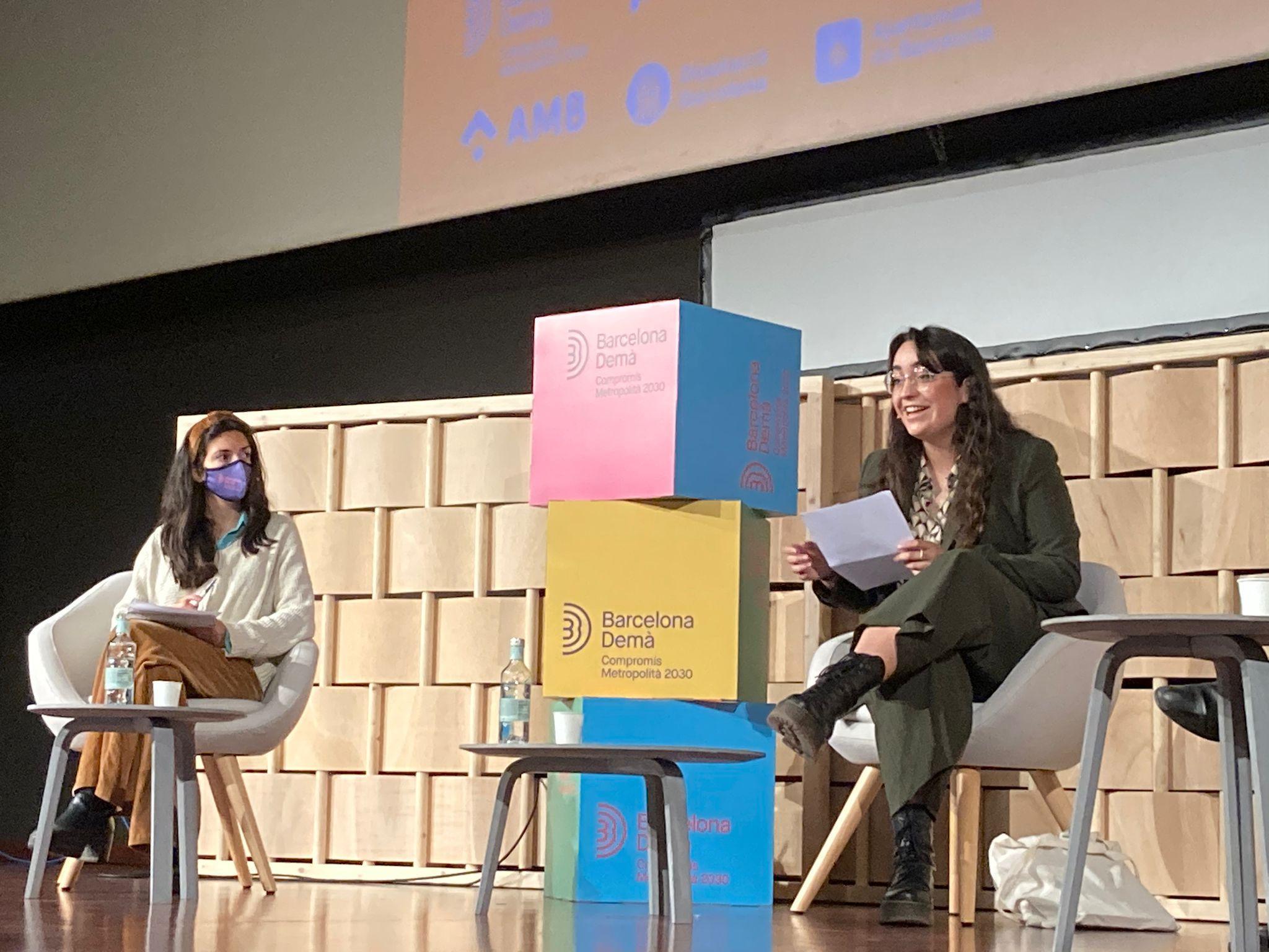 Olympia Arango, vicepresidenta de deba-t.org, a 'Diàlegs de futur: L?habitatge el 2030: quina perspectiva per a la gent jove d?avui?'