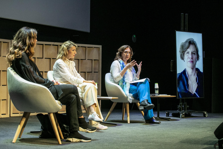 Francesca Bria, Yolanda Díaz, Ada Colau y Mariana Mazzucato