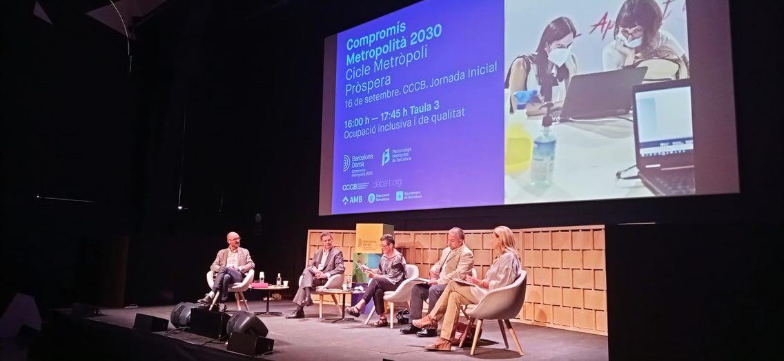 Gregori Cascante, Xavier Ros, Neus Pons, Toni Mora, Pilar García, en el debate