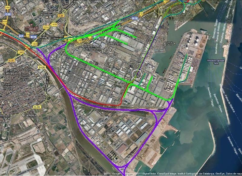 New Southern Rail And Road Access Ways In The Barcelona Port Expansion