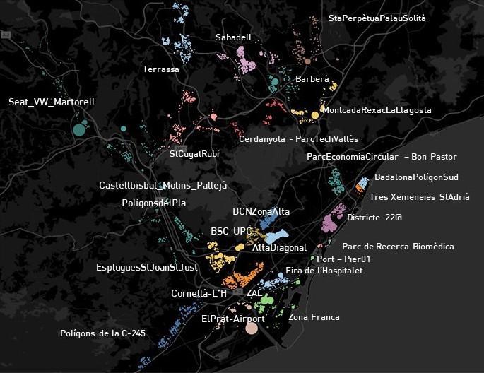 25 distritos de innovación y clústers industriales