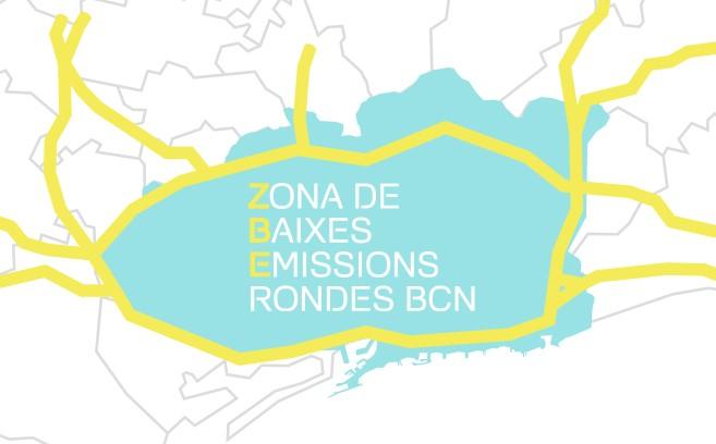 Zona de Baixes Emissions Rondes BCN