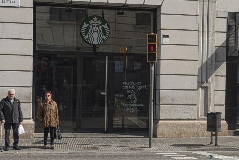 Via Fotomovimiento. Foto: Pedro Mata (Efectes coronavirus Barcelona)