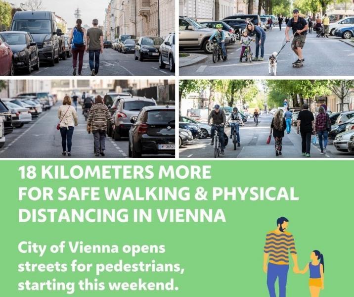 Mesures per assegurar el distanciament social al carrer. Ajuntament de Viena