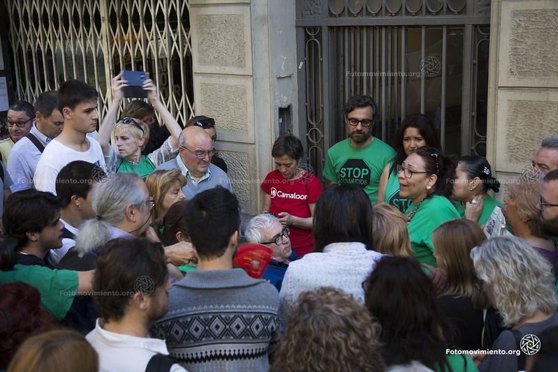 Desnonament al carrer Villarroel. Font: Fotomovimiento (Flickr)