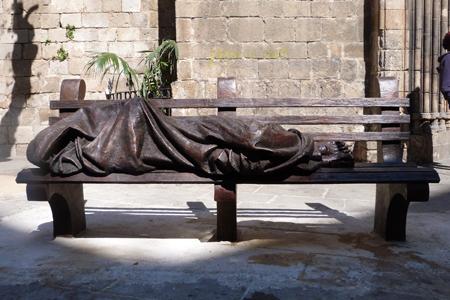 Jesús sense llar, Timothy Schmalz. Esglesia de Santa Anna