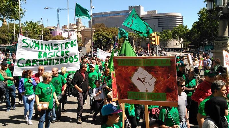 Manifestació per la llei dhabitatge a Barcelona